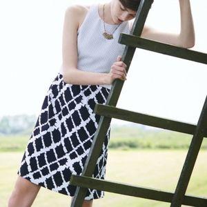 Tabitha Black & White Aleida Pocketed Dress